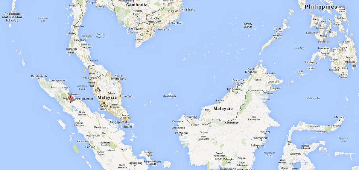 sinabung map