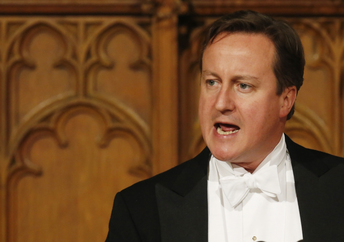 Prime Minister David Cameron at Lord Mayor's Banquet