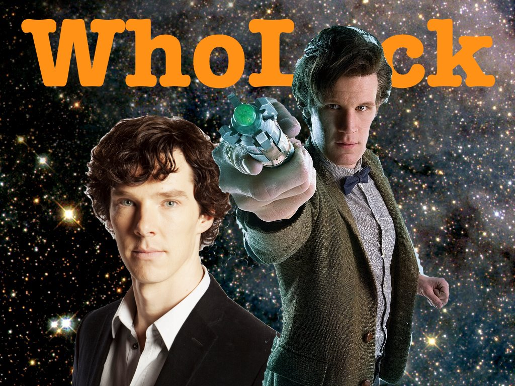 Fan-made poster of Sherlock and Doctor Who crossover episode