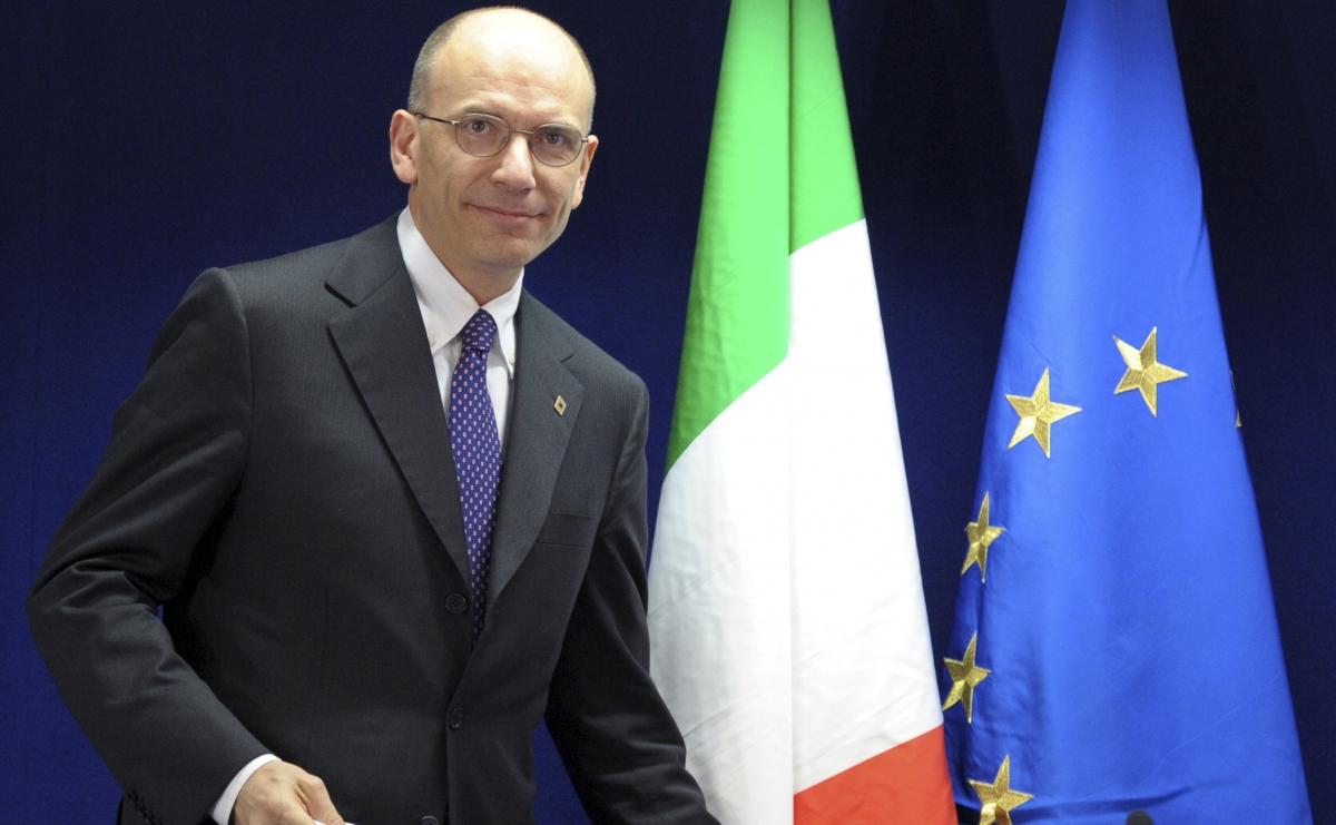 Italy's Prime Minister Enrico Letta