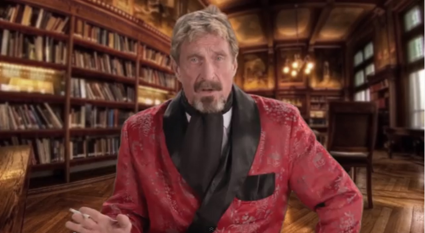 John McAfee teaching users how to uninstall McAfee Antivirus Software