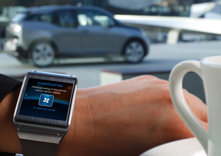 BMW and Samsung Galaxy Gear