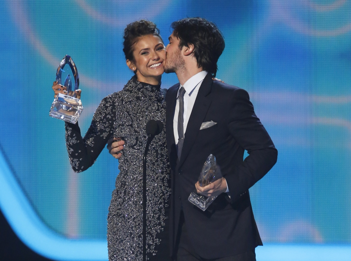 Nina Dobrev and Ian Somerhalder at People's Choice Awards 2014