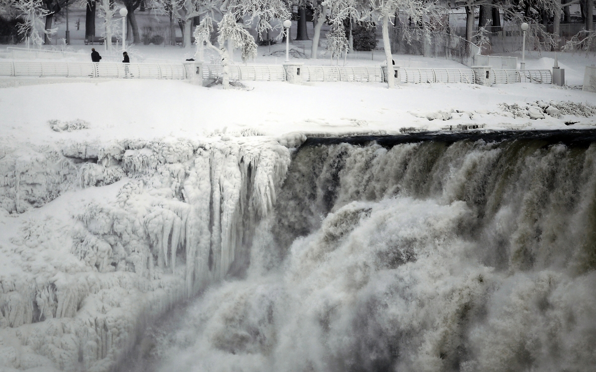 The American Falls at the side of Niagara Falls is pictured in Ontario.