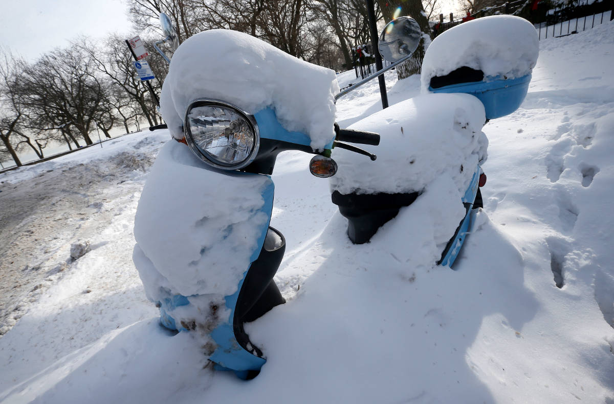scooter snow