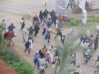 Crowds fleeing as gunfire is heard at Westgate centre in Kenya