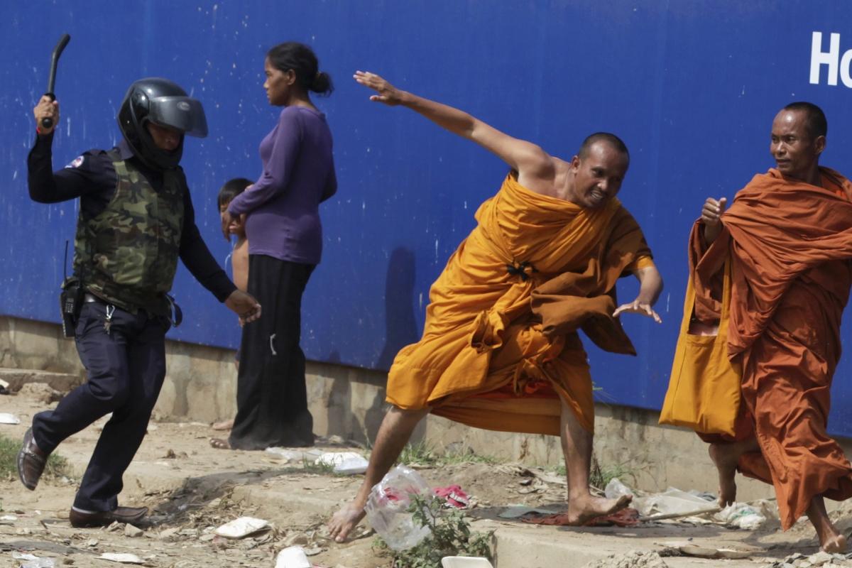 Cambodia protest police violence