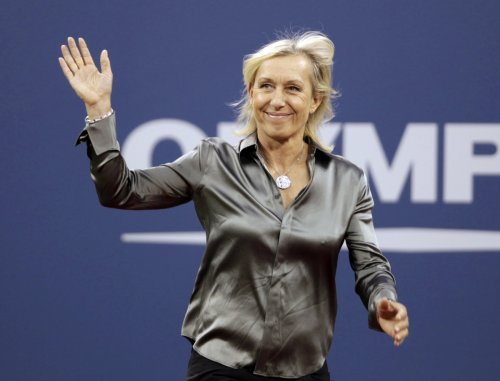 Tennis player Martina Navratilova has been out and proud for years