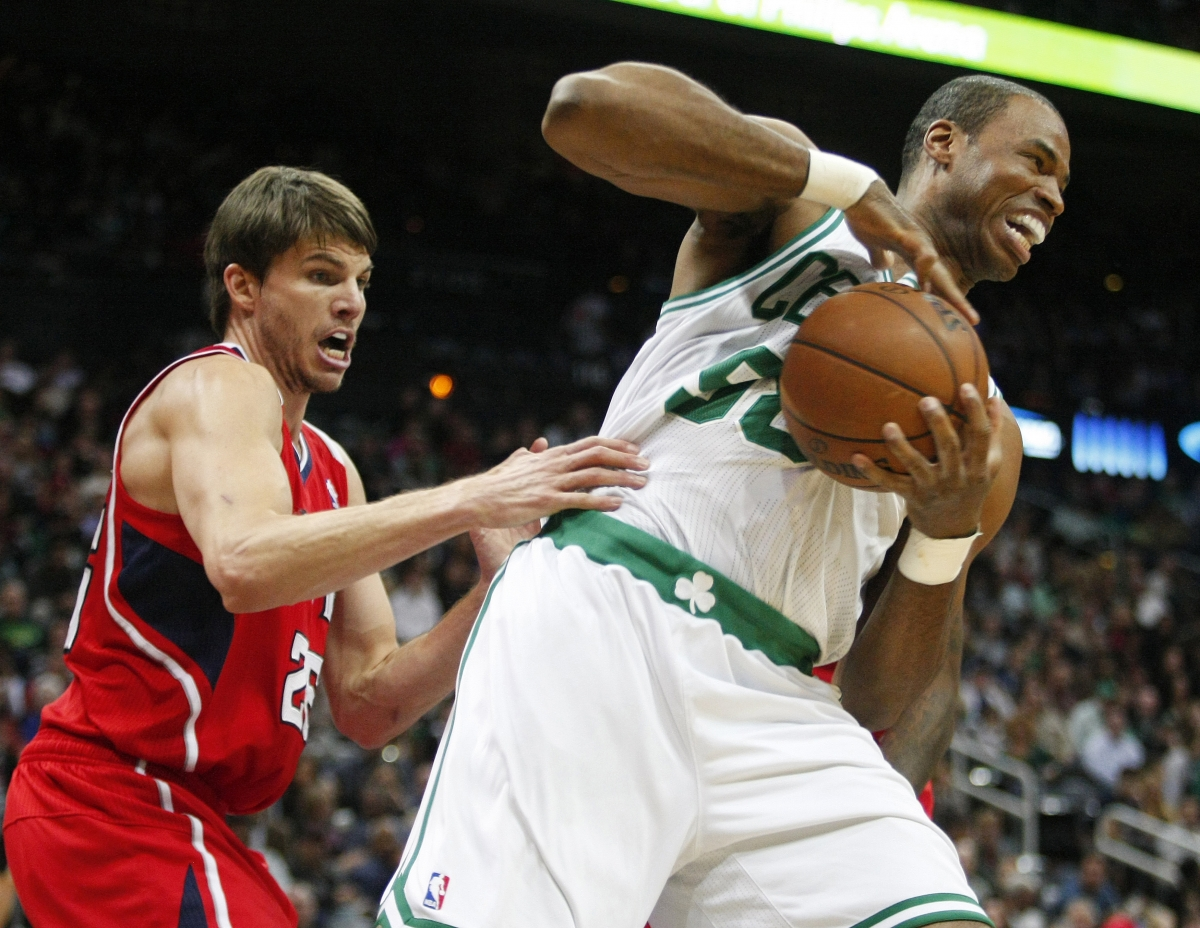 Jason Collins in action for the Celtics before coming out as gay