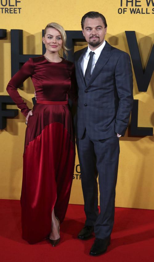 Margot Robbie and Leonardo DiCaprio