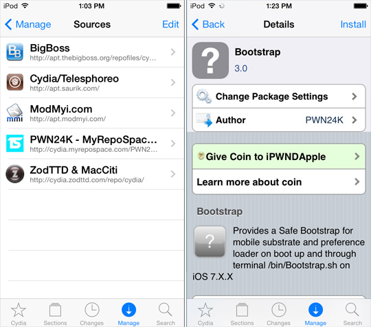Evasi0n7 Untethered Jailbreak: Fix Cydia Tweak Errors on iOS 7 with BootStrap