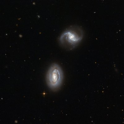 hubble two galaxies
