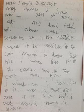 sophies letter