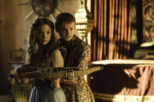 Game of Thrones Margaery Tyrell and Prince Joffrey Baratheon , played by Natalie Dormer and Jack Gleeson