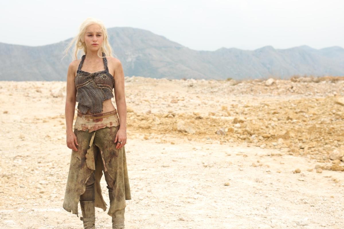 Game of Thrones Daenerys Targaryen played by Emilia Clarke, seen here in Season 2 of GoT