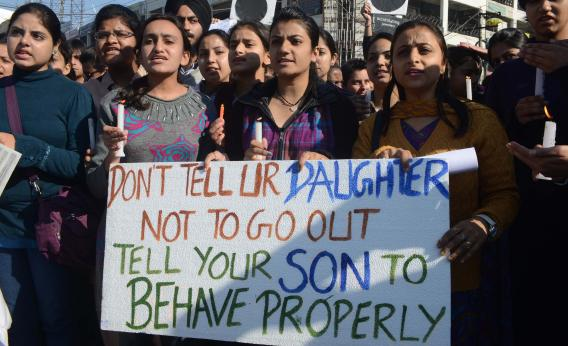 Indian women protest against rape