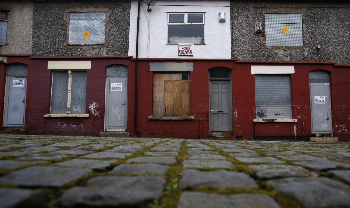 Housing. Kensington area of Liverpool, northern England February 20, 2013.