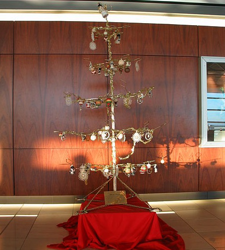 A sorry-looking Christmas tree in Cape Town airport, South Africa
