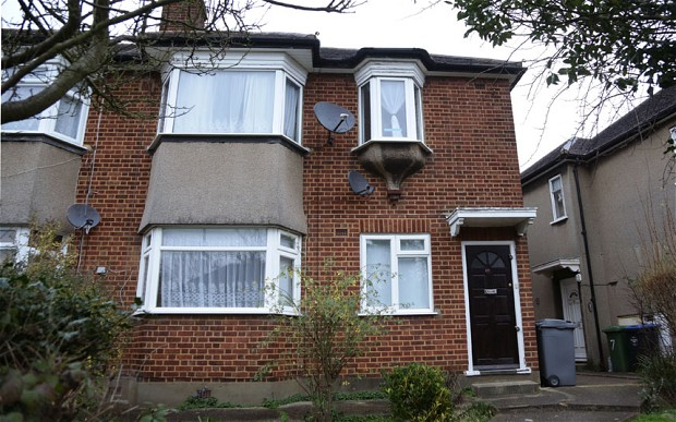 Harrow Flat Where Mother and Two  Children are Found Dead