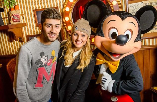 Zayn Malik and Perrie Edwards in Disneyland