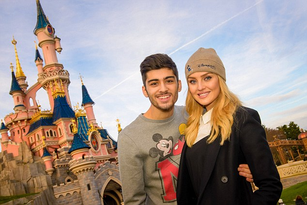 Zayn Malik and Perrie Edwards in Disneyland