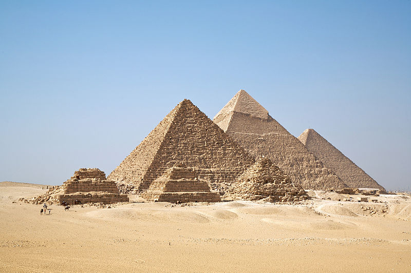 The pyramids in Egypt may have been constructed quickly by filling them with rubble.