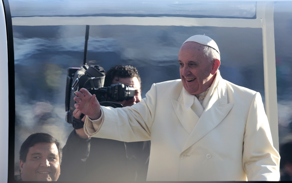 Number 4: Pope Francis arrives by popemobile at Saint Peter's square at the Vatican.