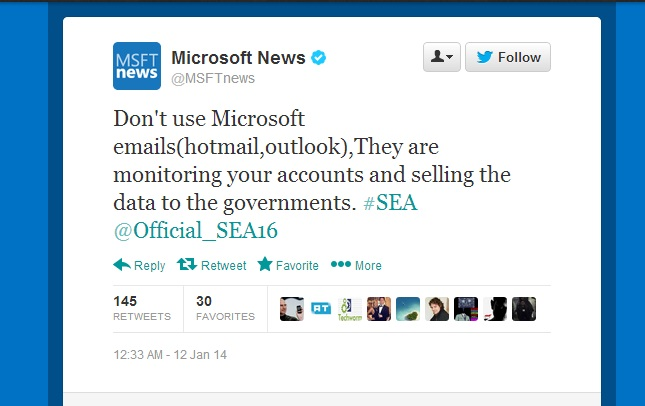 Microsoft hacked