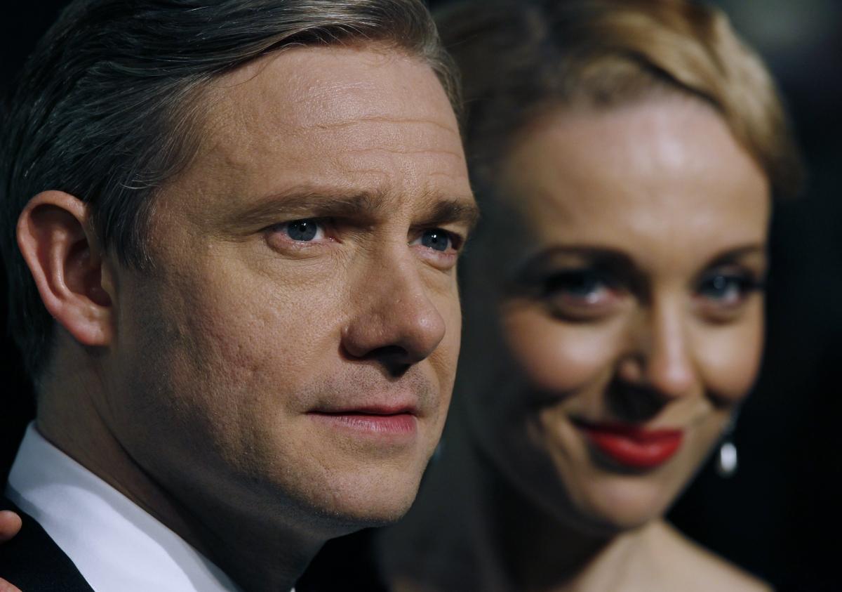 Actor Martin Freeman and his partner Amanda Abbington
