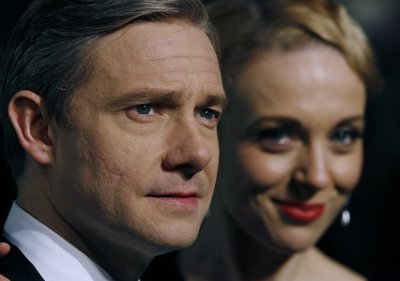 Actor Martin Freeman and his partner Amanda Abbington