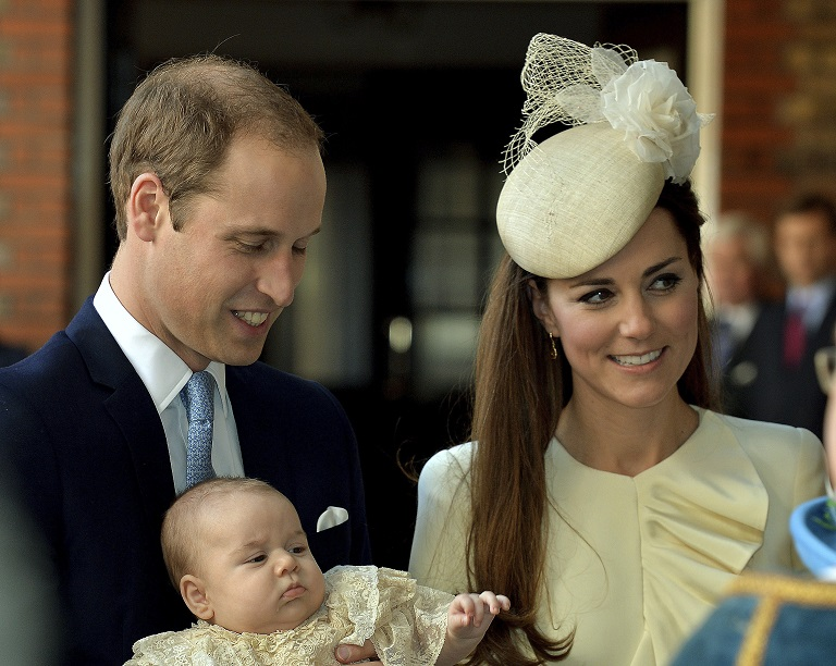 Kate Middleton and Prince William have missed seeing Prince George crawl for the first time, a US tabloid suggests.