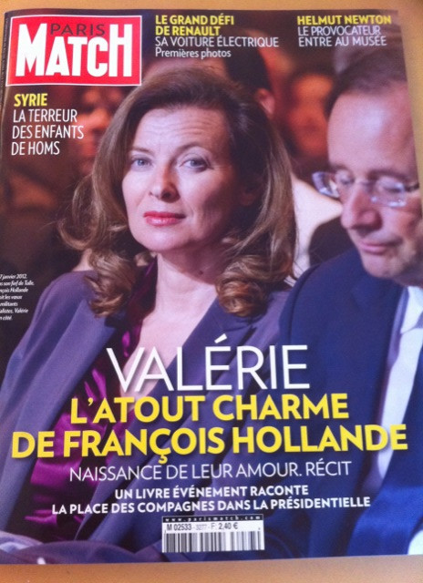 Valerie Trierweiler on the cover of Paris Match