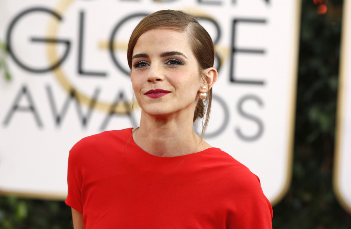 Actress Emma Watson arrives at the 71st annual Golden Globe Awards in Beverly Hills, California January 12, 2014.