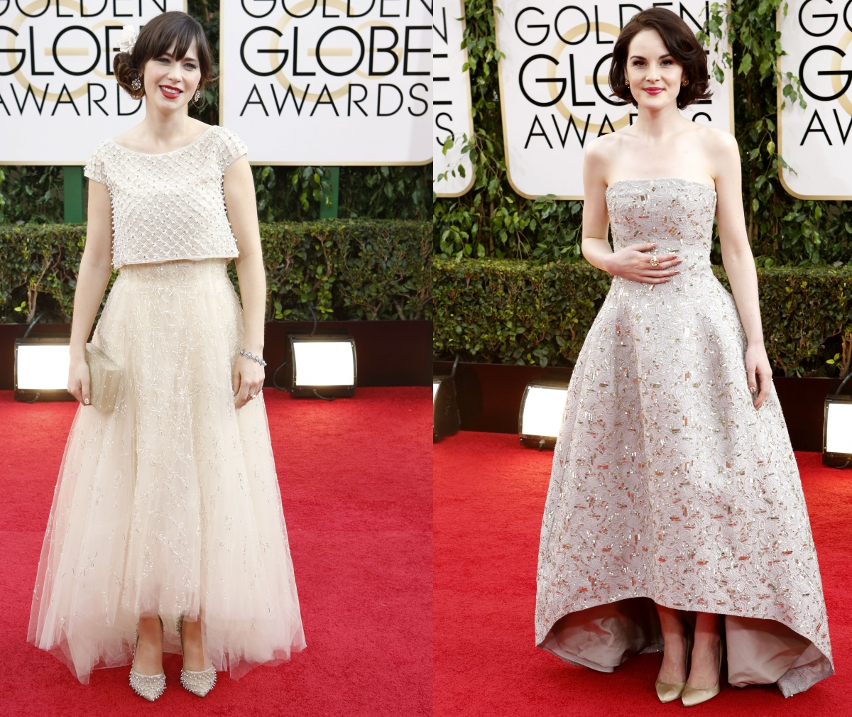 Zooey Deschanel and Michelle Dockery