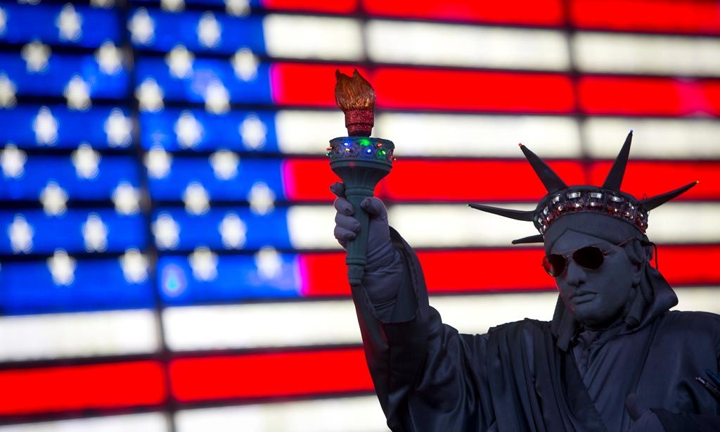 US Flag Statue of Liberty