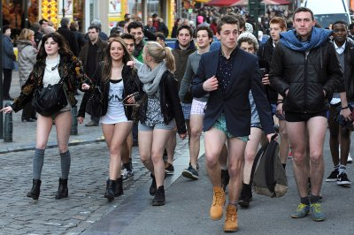 no pants Brussels