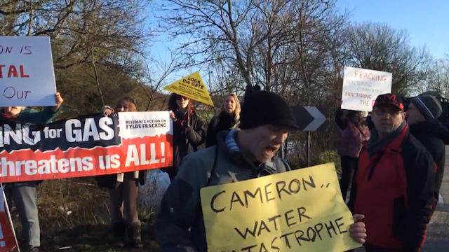 Anti-Fracking Protests Held In The UK Despite Assurances