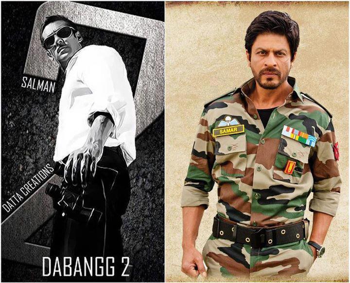 Bollywood stars Salman Khan and Shahrukh Khan