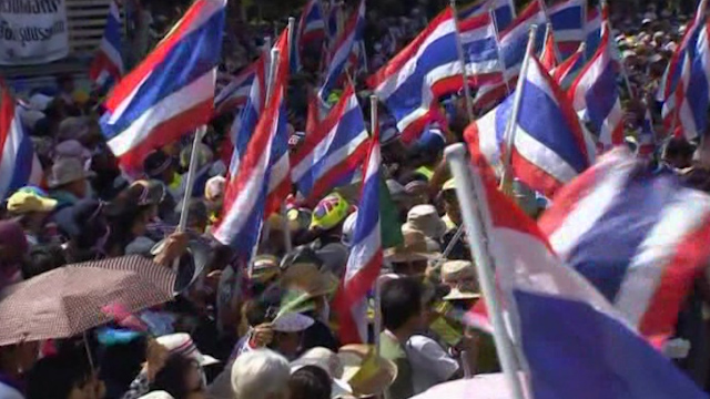 Thai Protesters Target Government Offices
