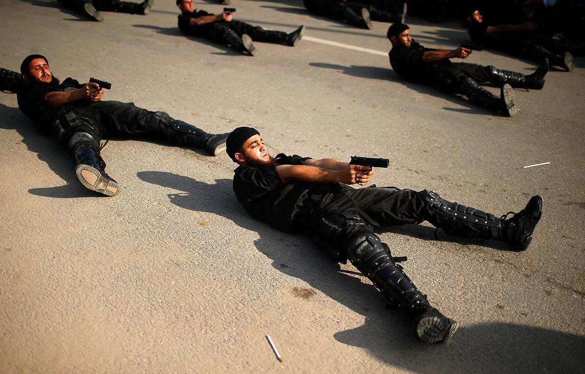 palestine army drill
