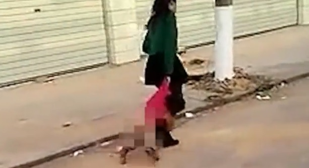 Shocking Footage Of Chinese Mother Beating And Dragging