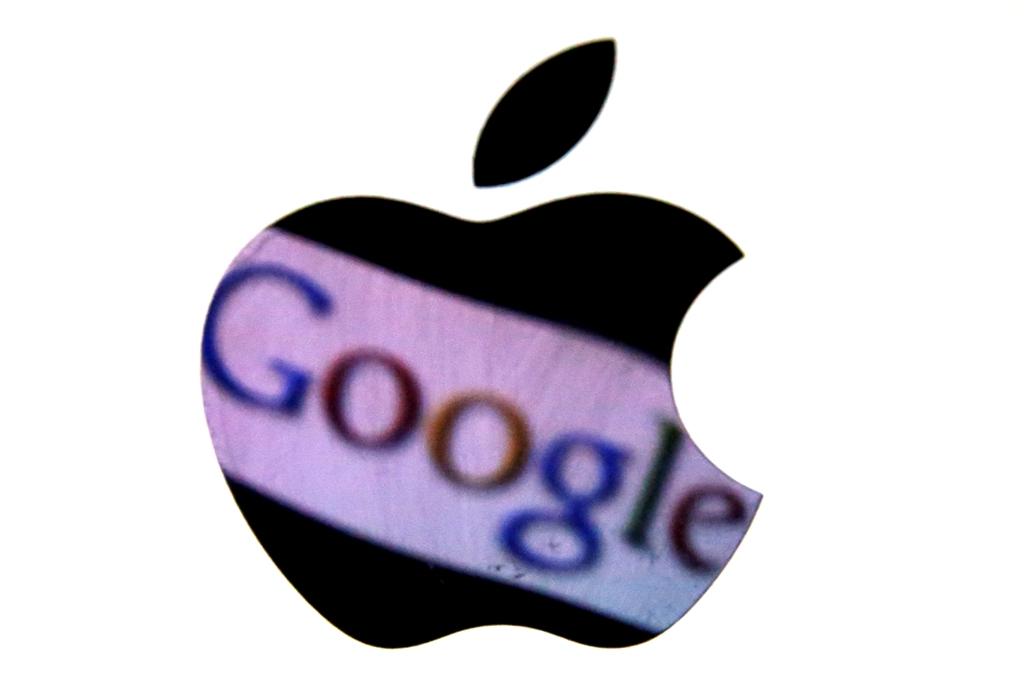 Apple Google Logos