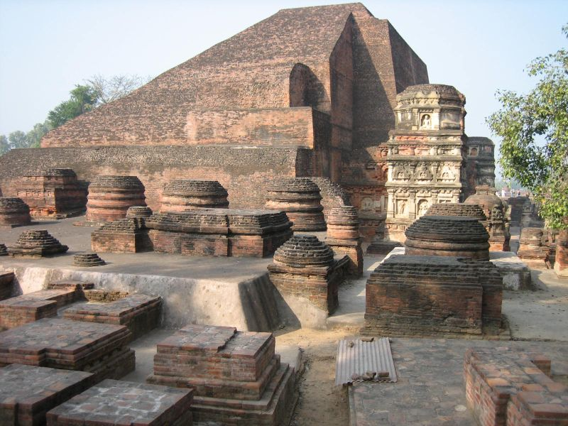 Ruins of Nalanda University in Bihar, India