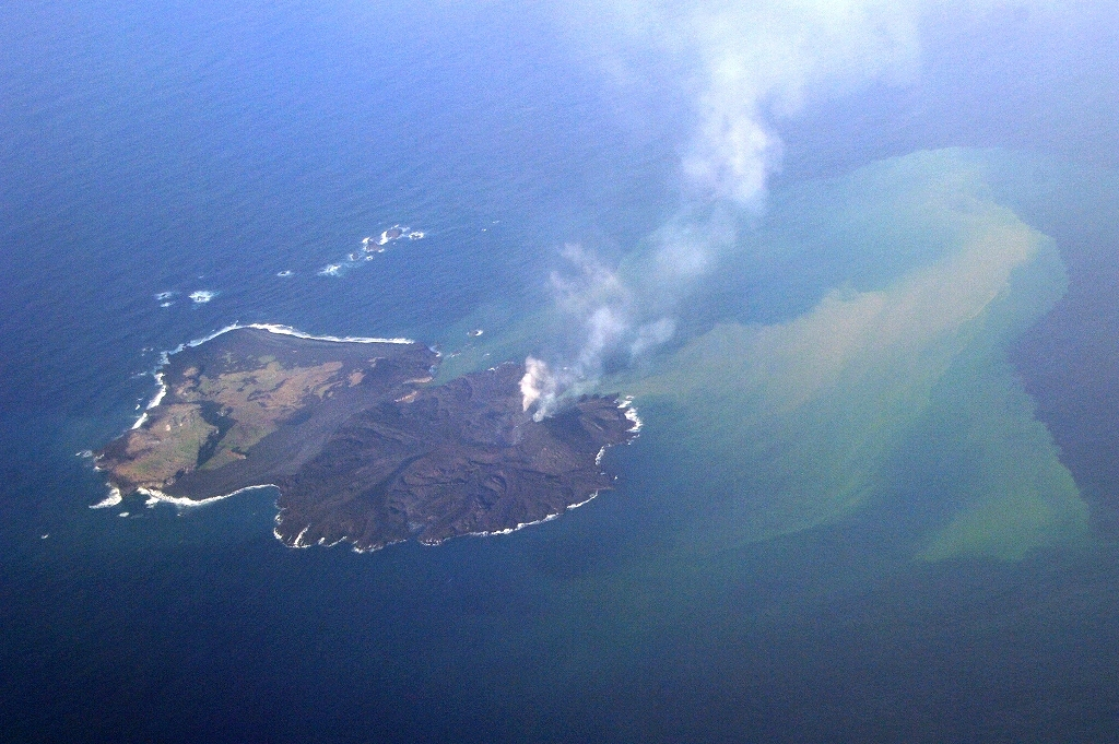 The New Volcanic Island Niijima Off Japan Tripled Its Surface ...