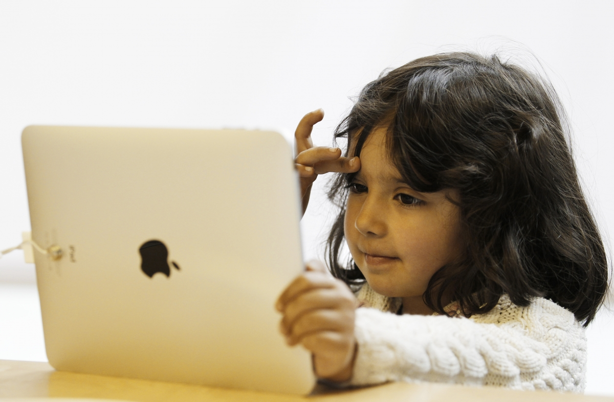 Child using iPad