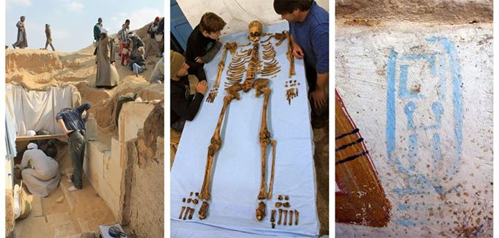 A Penn Museum research team workis at the tomb of king Woseribre Senebkayng in Abydos.
