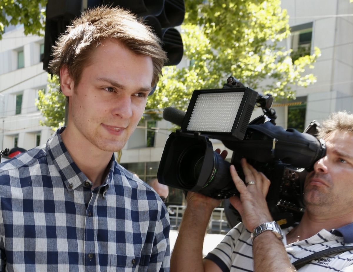 Daniel Dobson after his arrest at the Australian Open tennis tournament in Melbourne on suspicion of betting offences