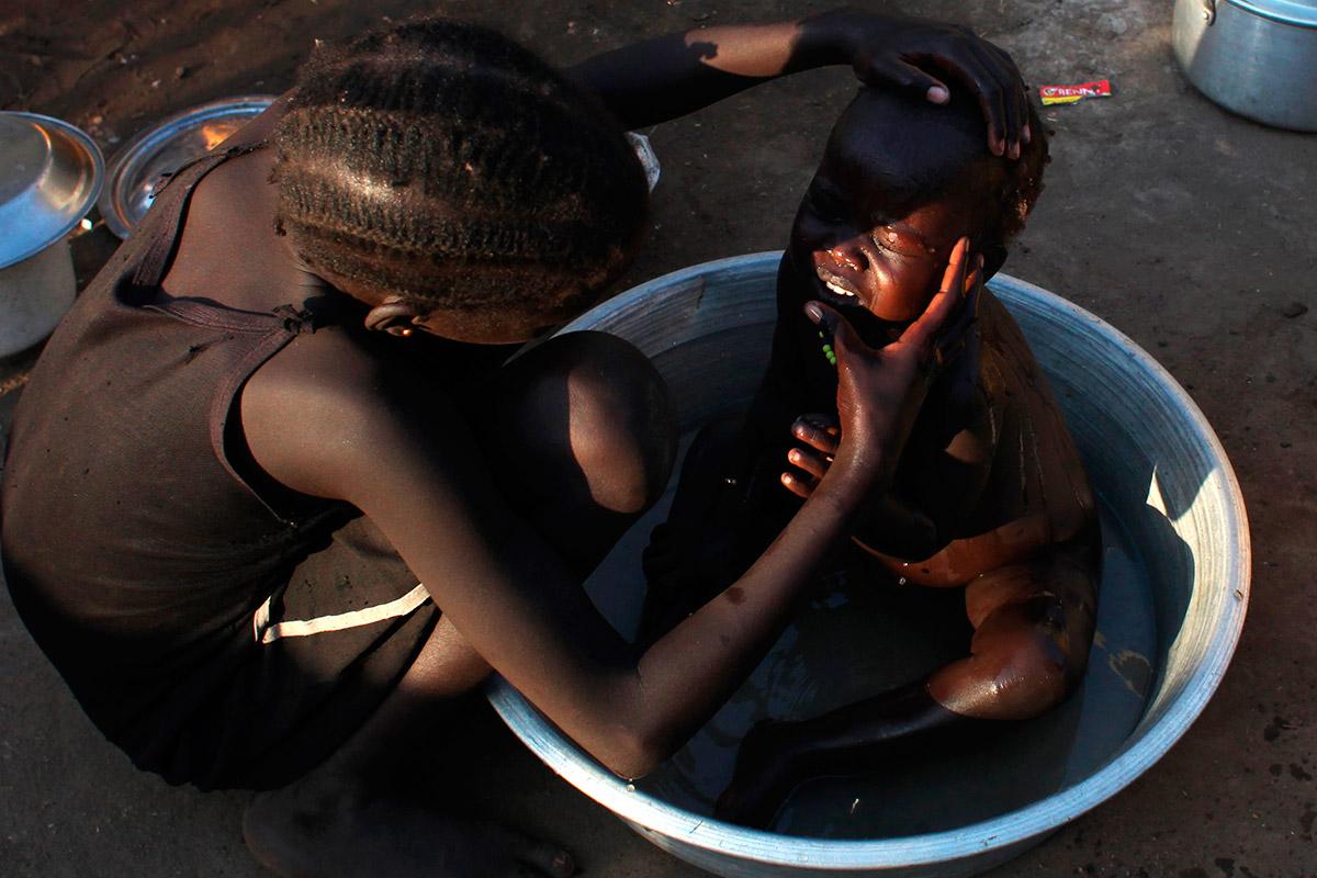 sudan baby bath