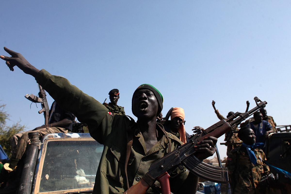 sudan soldiers sing