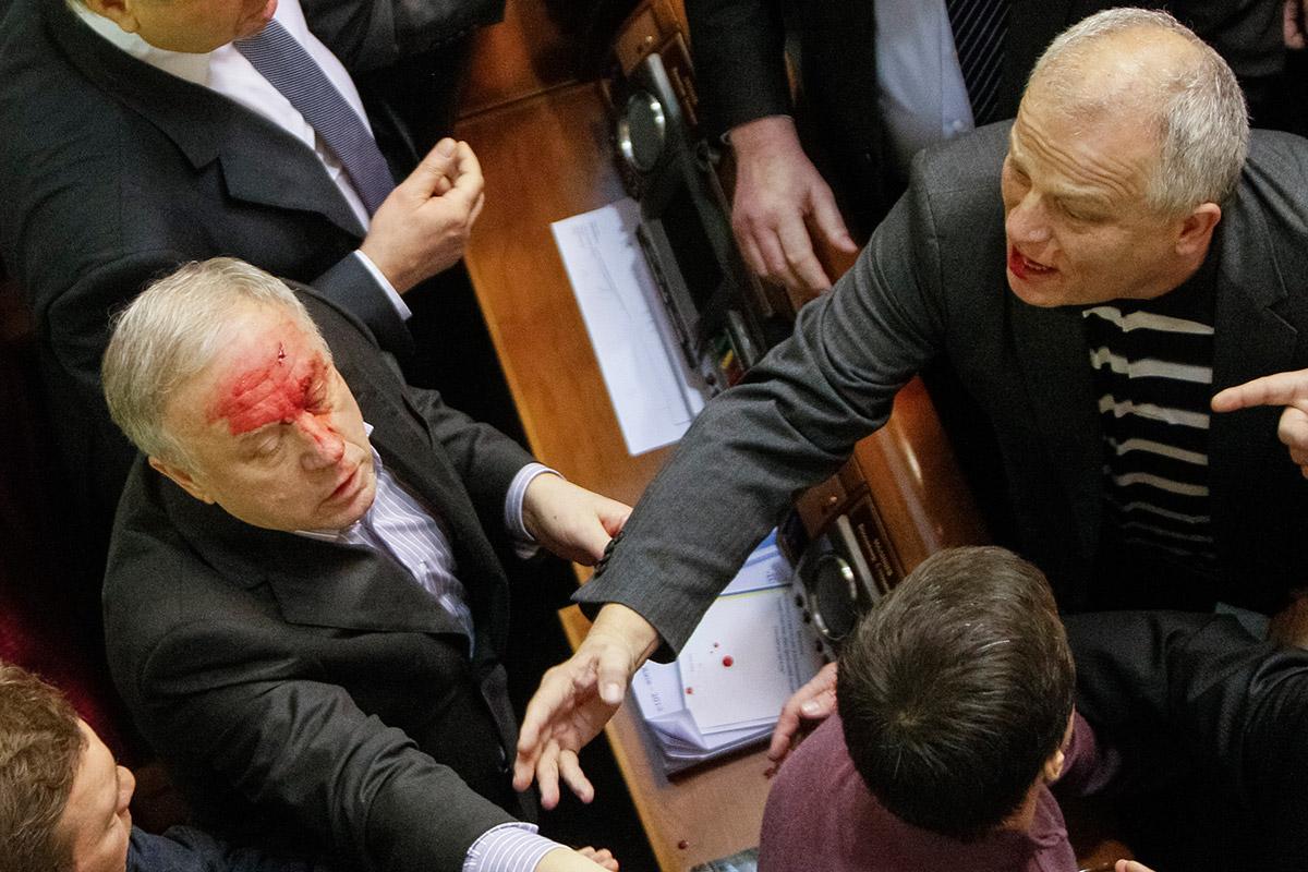 ukraine fight close up